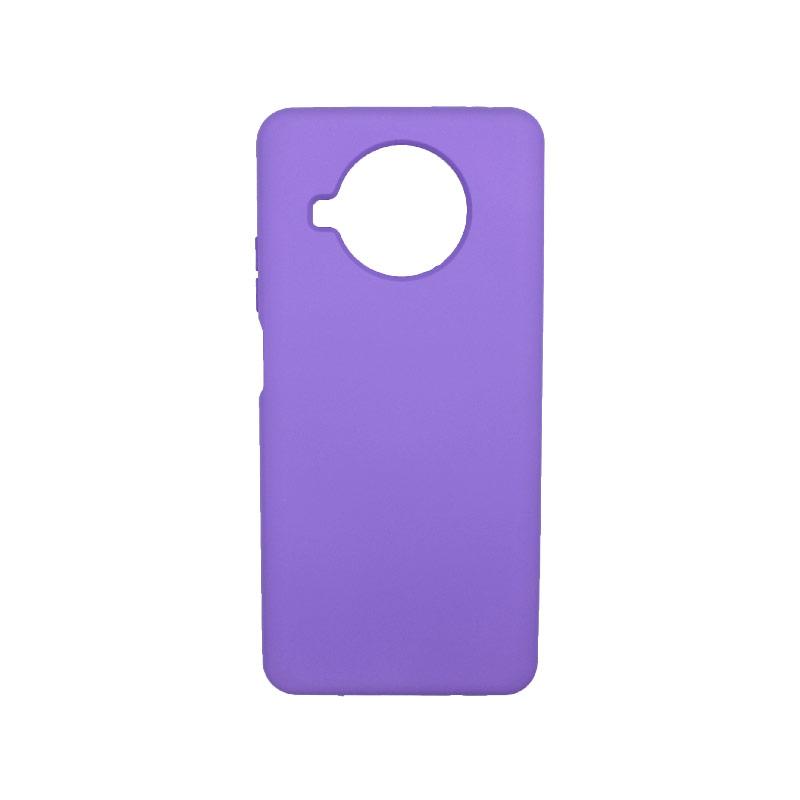 Θήκη Xiaomi Mi 10T Lite Silky and Soft Touch Silicone μωβ-1