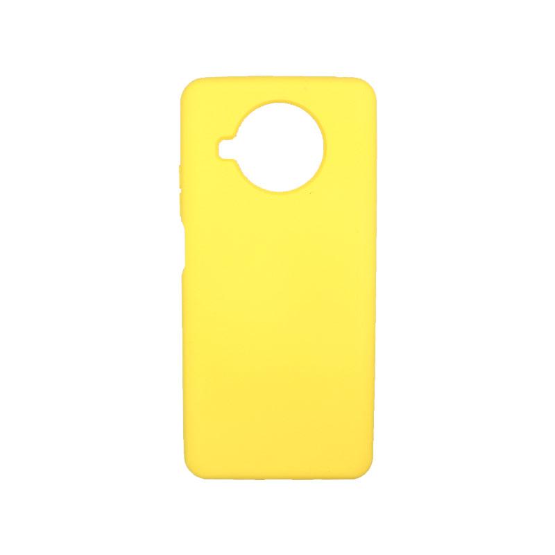 Θήκη Xiaomi Mi 10T Lite Silky and Soft Touch Silicone κίτρινο-1