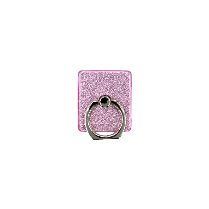 Ring Holder Glitter ροζ 1