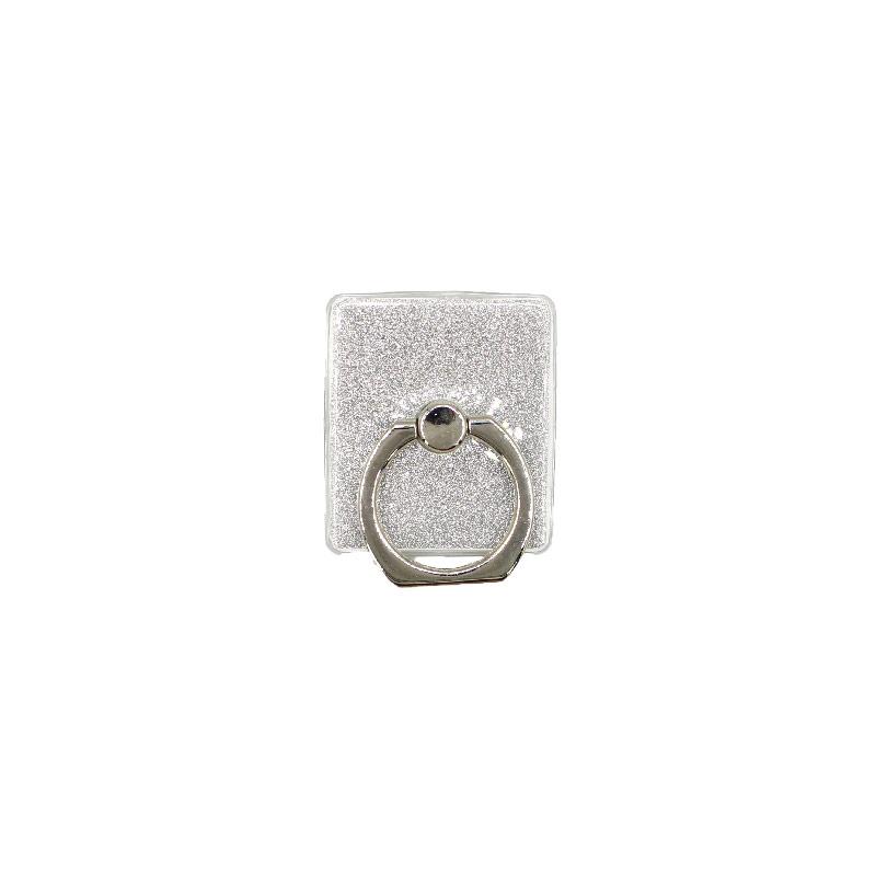 Ring Holder Glitter ασημί 1
