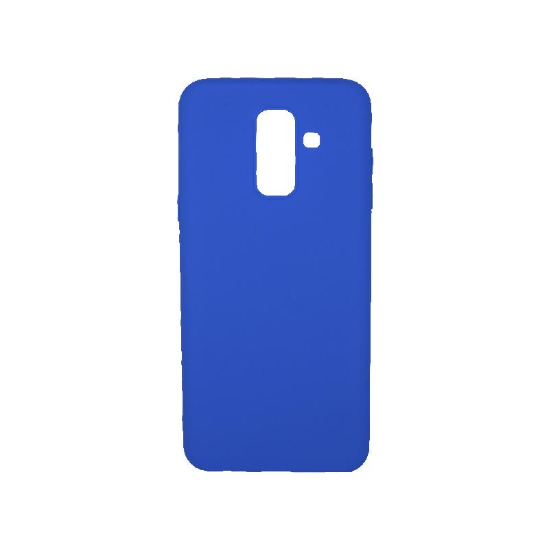 Θήκη Samsung Galaxy A6 Plus / J8 2018 Σιλικόνη Μπλε