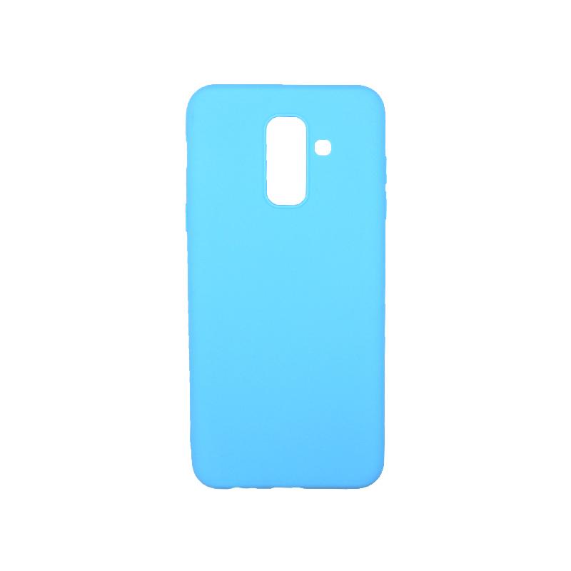Θήκη Samsung Galaxy A6 Plus / J8 2018 Σιλικόνη γαλάζιο