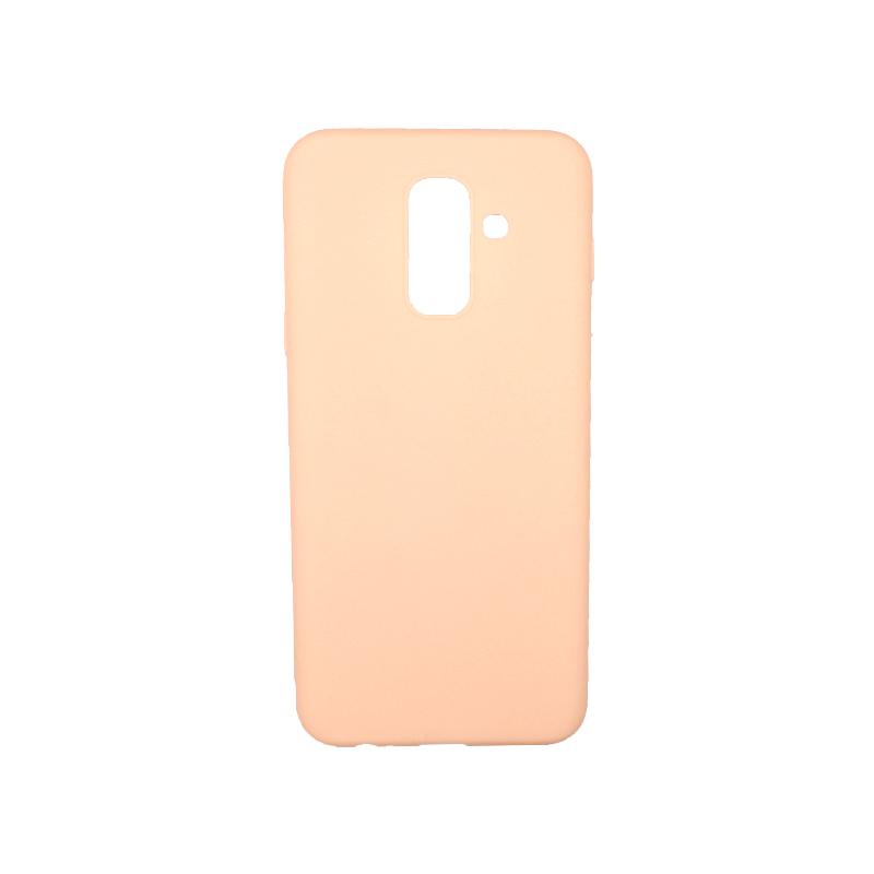 Θήκη Samsung Galaxy A6 Plus / J8 2018 Σιλικόνη μπεζ
