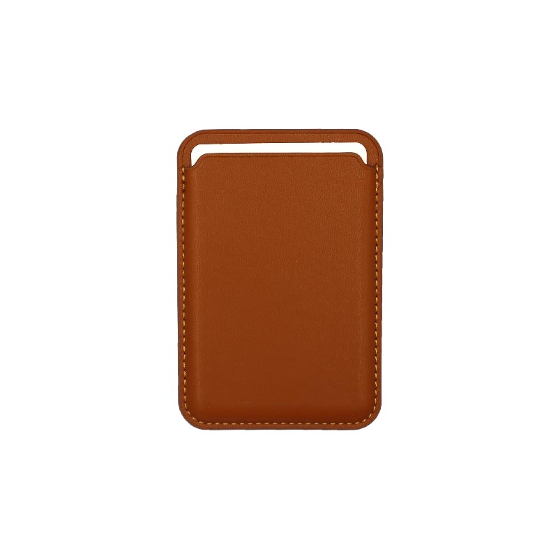 μαγνητικό card holder καφέ