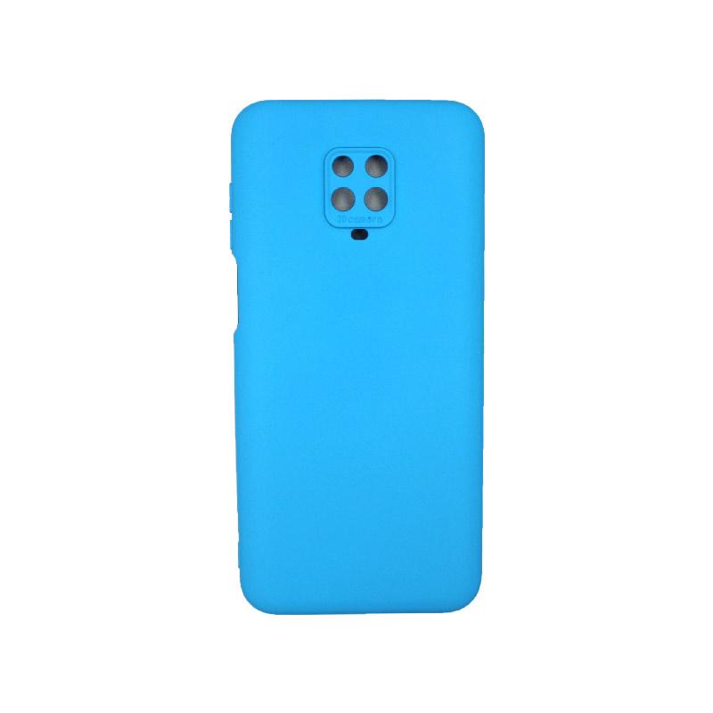Θήκη Xiaomi Redmi Note 9S / Note 9 Pro / Note 9 Pro Max Silky and Soft Touch Silicone γαλάζιο 1