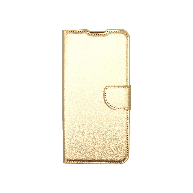 Θήκη Xiaomi Redmi 9C Wallet-χρυσό