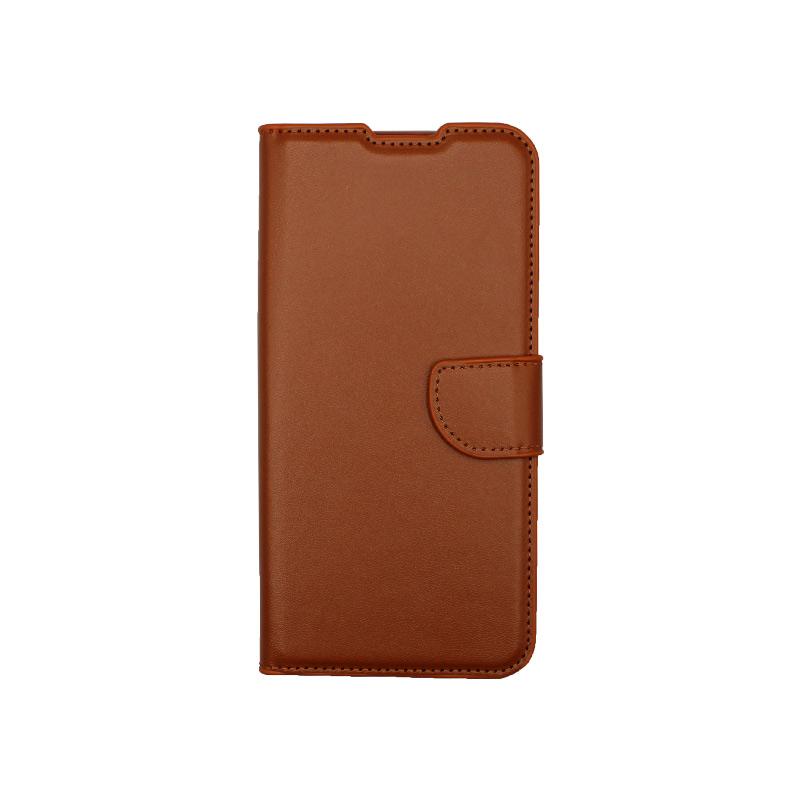 Θήκη Xiaomi Redmi 9C Wallet-καφέ