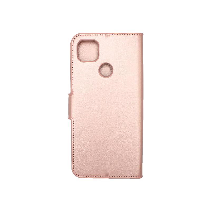 Θήκη Xiaomi Redmi 9C Wallet-ροζ χρυσό 2