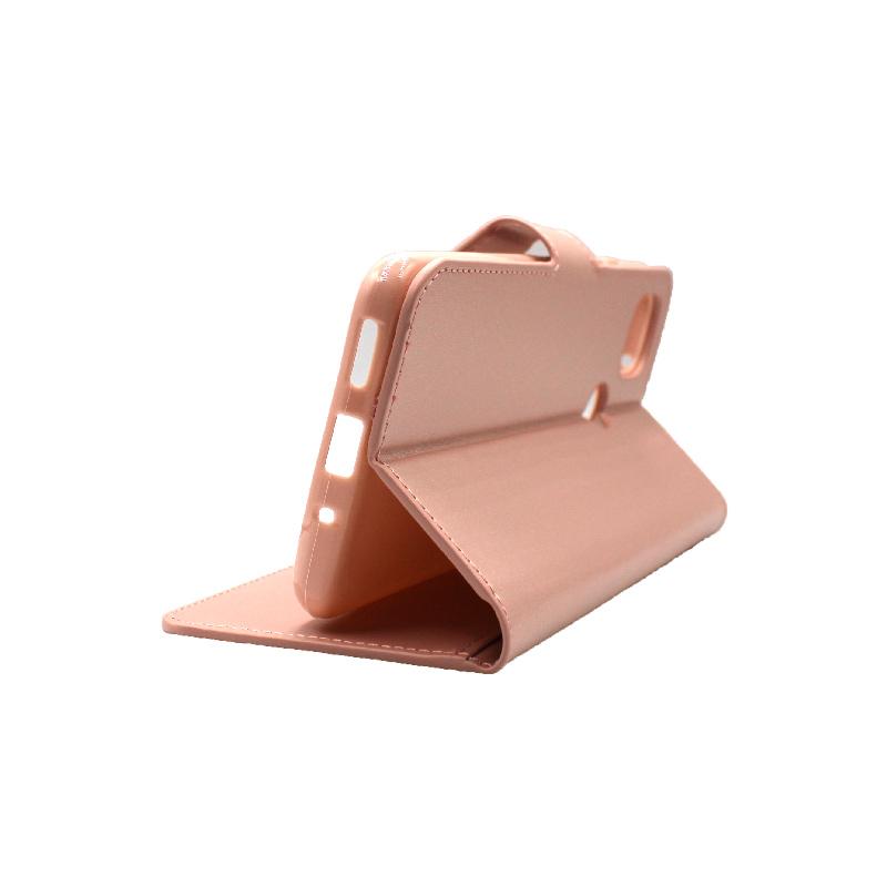 Θήκη Xiaomi Redmi 9C Wallet-ροζ χρυσό 4