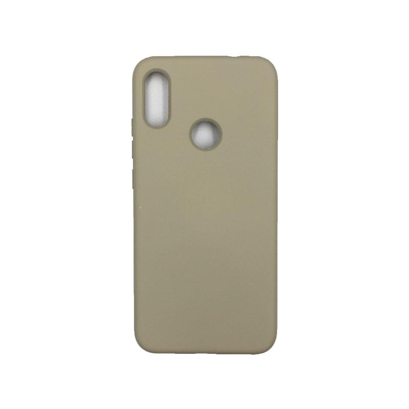 Θήκη Xiaomi Redmi Note 7 / Note 7 Pro Silky and Soft Touch Silicone γκρι 1