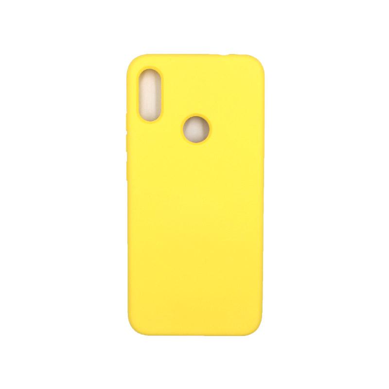 Θήκη Xiaomi Redmi Note 7 / Note 7 Pro Silky and Soft Touch Silicone κίτρινο 1