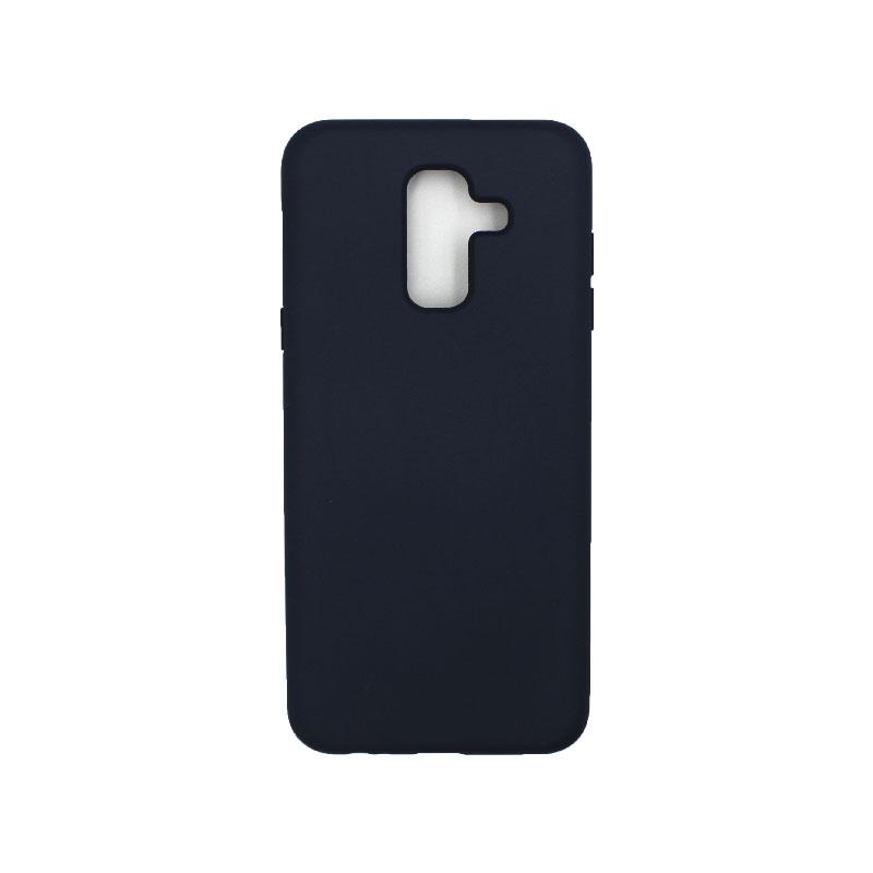 Θήκη Samsung Galaxy A6 Plus / J8 2018 Silky and Soft Touch Silicone μπλε 1