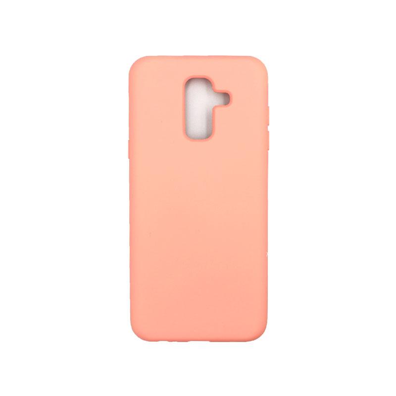 Θήκη Samsung Galaxy A6 Plus / J8 2018 Silky and Soft Touch Silicone πορτοκαλί 1