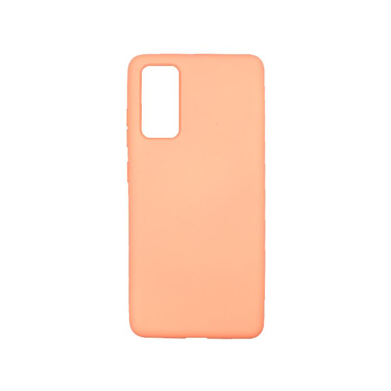 Θήκη Samsung Galaxy S20 FE Silky and Soft Touch Silicone πορτοκαλί-1