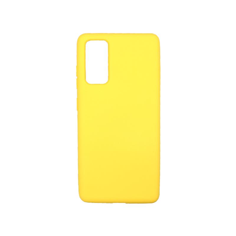 Θήκη Samsung Galaxy S20 FE Silky and Soft Touch Silicone κίτρινο-1