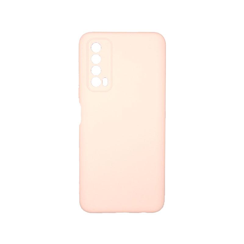 Θήκη Huawei P Smart 2021 Silky and Soft Touch Silicone απαλό ροζ 1