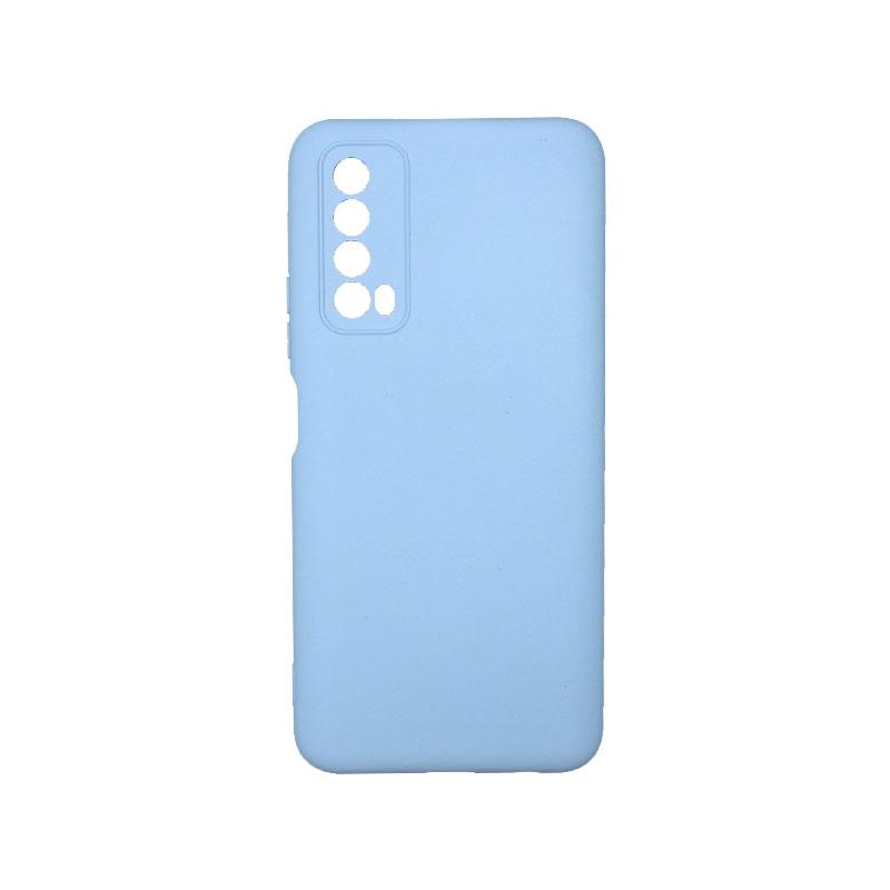 Θήκη Huawei P Smart 2021 Silky and Soft Touch Silicone απαλό γαλάζιο 1