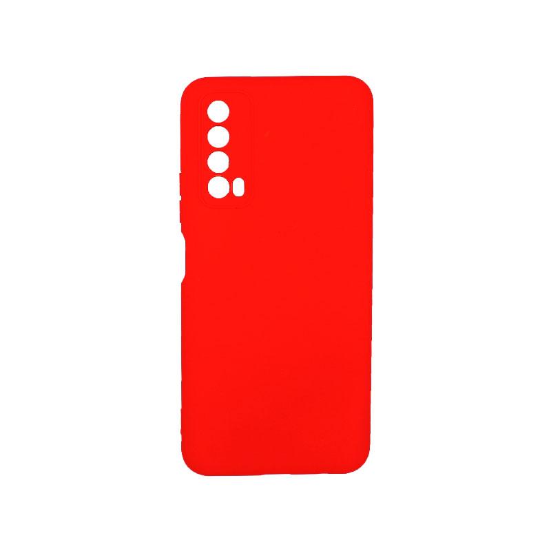 Θήκη Huawei P Smart 2021 Silky and Soft Touch Silicone απαλό κόκκινο 1
