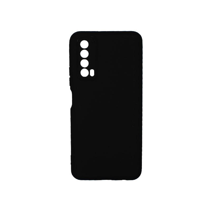 Θήκη Huawei P Smart 2021 Silky and Soft Touch Silicone μαύρο 1