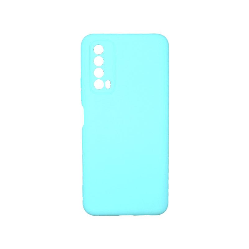 Θήκη Huawei P Smart 2021 Silky and Soft Touch Silicone τιρκουάζ 1