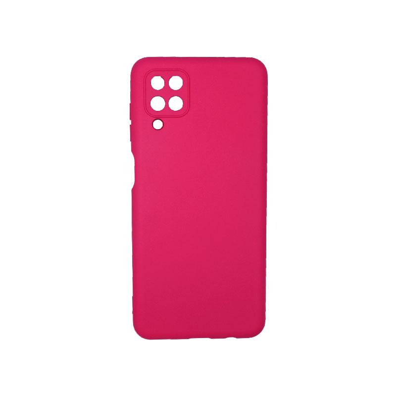 Θήκη Samsung Galaxy A12 Silky and Soft Touch Silicone φούξια 1
