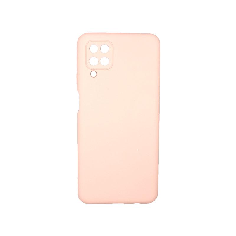 Θήκη Samsung Galaxy A12 Silky and Soft Touch Silicone απαλό ροζ 1