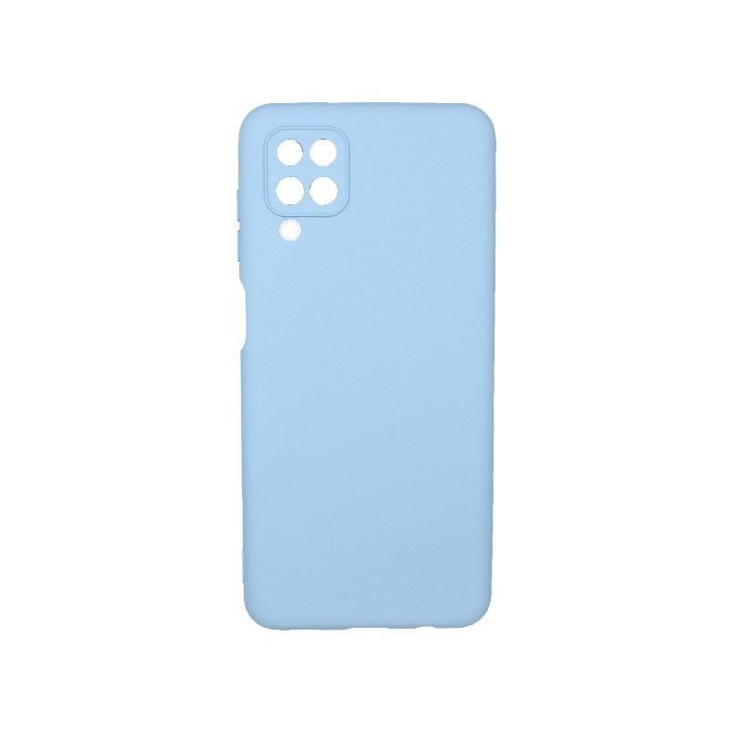 Θήκη Samsung Galaxy A12 Silky and Soft Touch Silicone γαλάζιο 1