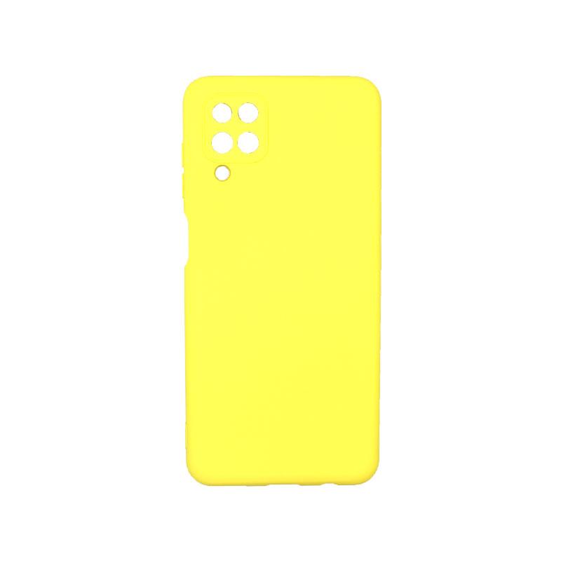 Θήκη Samsung Galaxy A12 Silky and Soft Touch Silicone κίτρινο 1