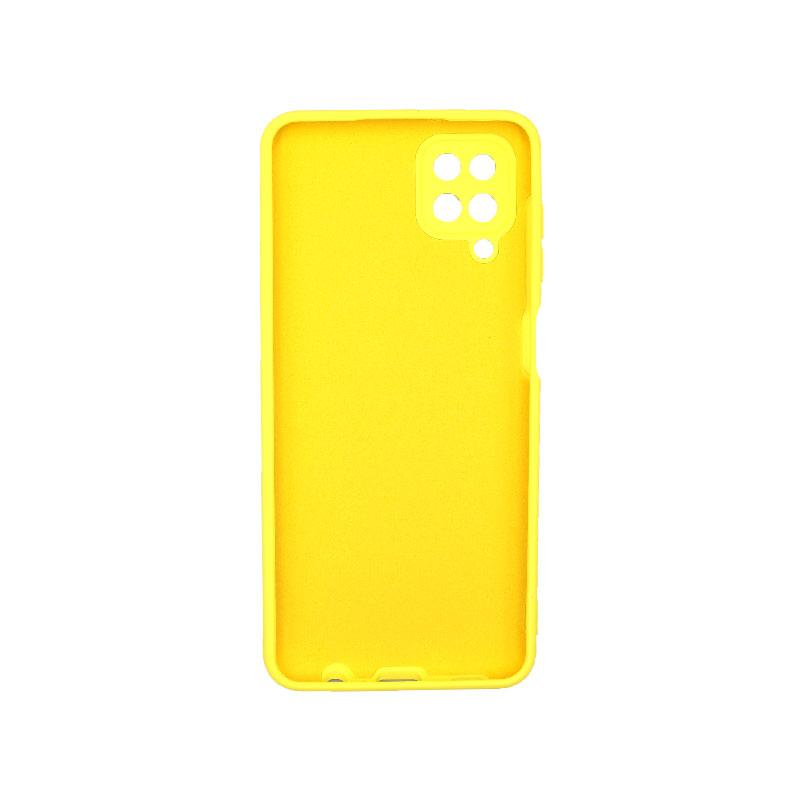 Θήκη Samsung Galaxy A12 Silky and Soft Touch Silicone κίτρινο 2