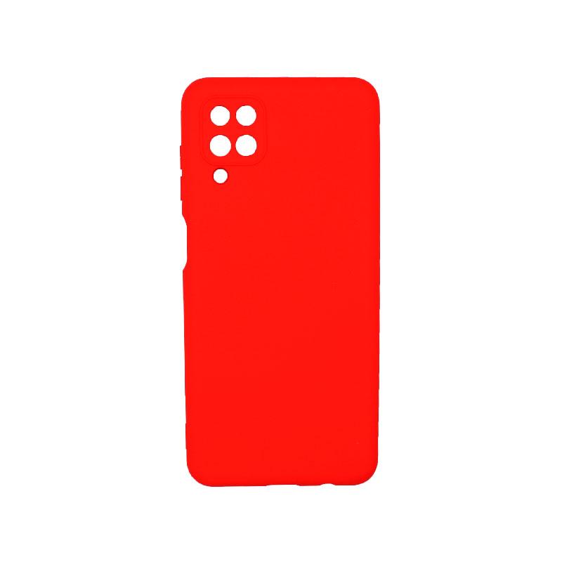 Θήκη Samsung Galaxy A12 Silky and Soft Touch Silicone κόκκινο 1