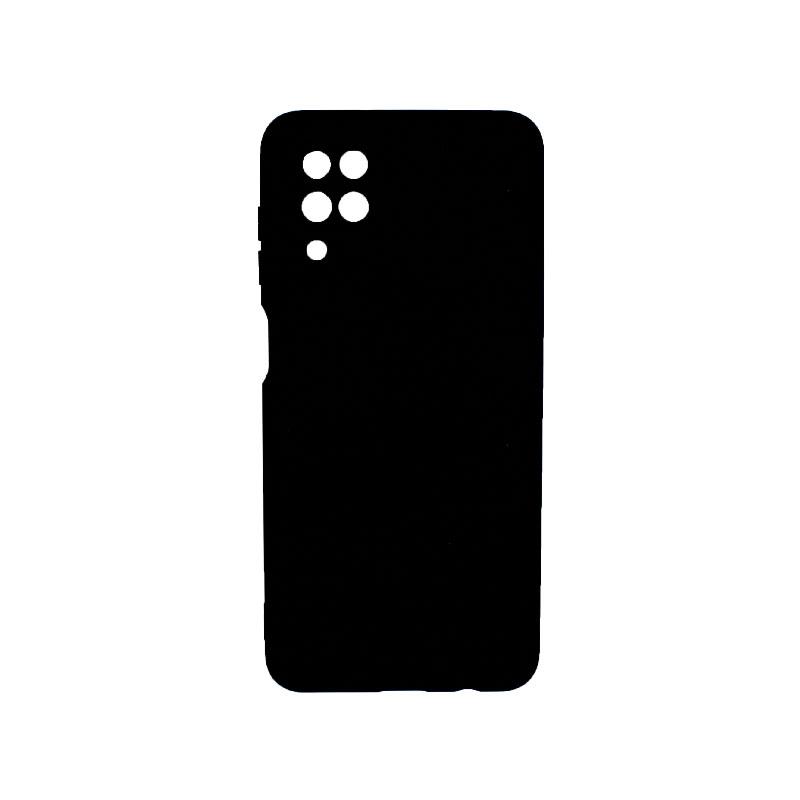 Θήκη Samsung Galaxy A12 Silky and Soft Touch Silicone μαύρο 1
