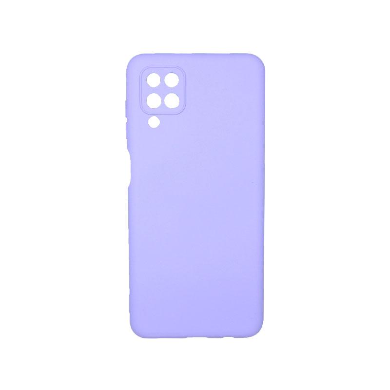 Θήκη Samsung Galaxy A12 Silky and Soft Touch Silicone μωβ 1