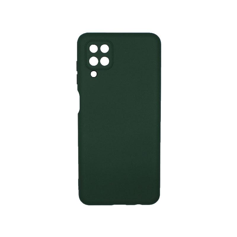 Θήκη Samsung Galaxy A12 Silky and Soft Touch Silicone πράσινο 1
