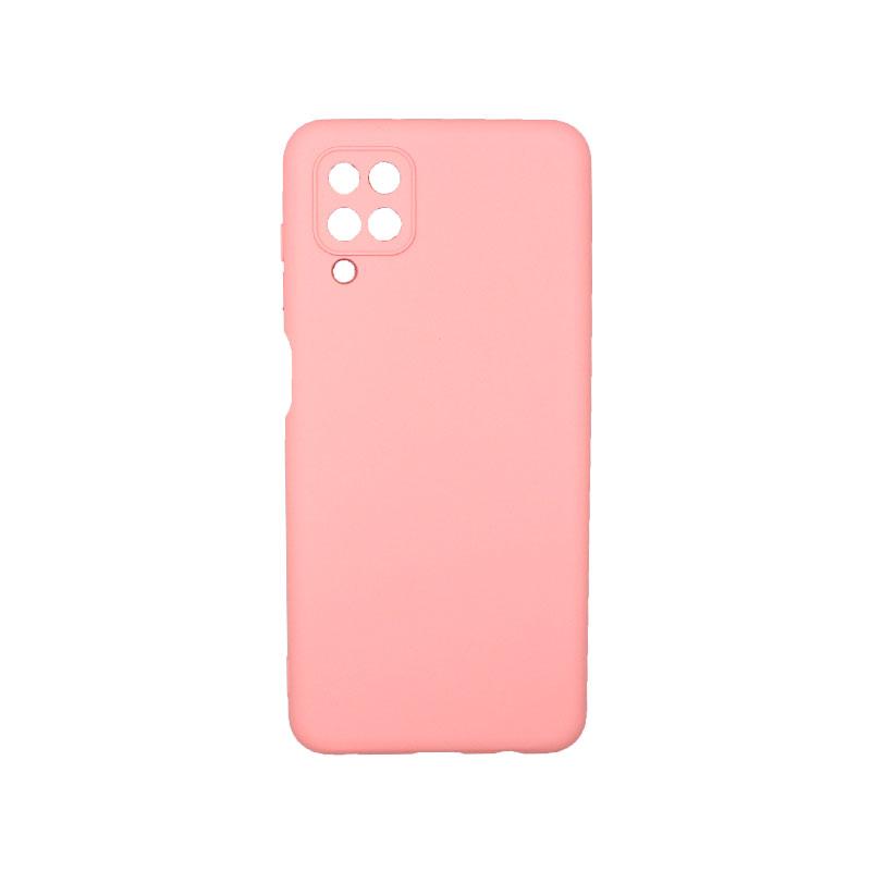 Θήκη Samsung Galaxy A12 Silky and Soft Touch Silicone ροζ 1