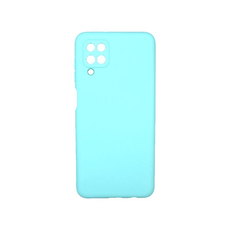 Θήκη Samsung Galaxy A12 Silky and Soft Touch Silicone τιρκουάζ 1