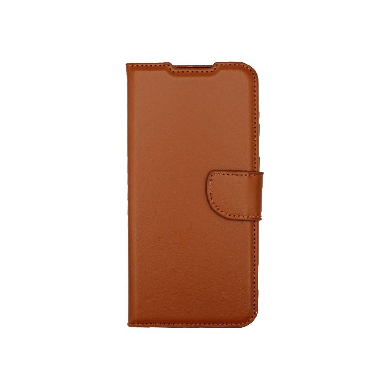 Θήκη Samsung Galaxy S21 Wallet Καφέ-1