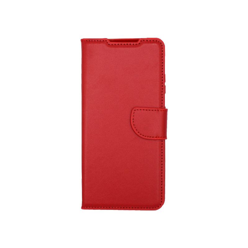 Θήκη Samsung Galaxy S21 Ultra Wallet Κόκκινο-1