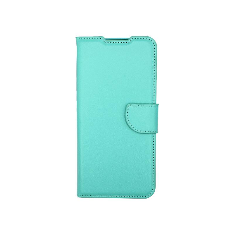 Θήκη Samsung Galaxy A12 Wallet Τιρκουάζ-1