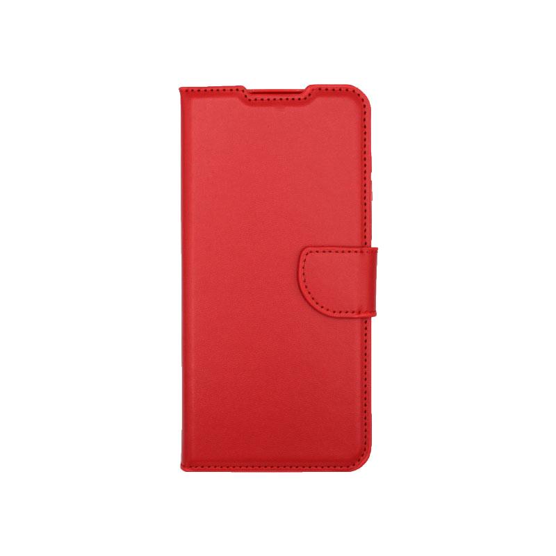 Θήκη Samsung Galaxy A12 Wallet Κόκκινο-1