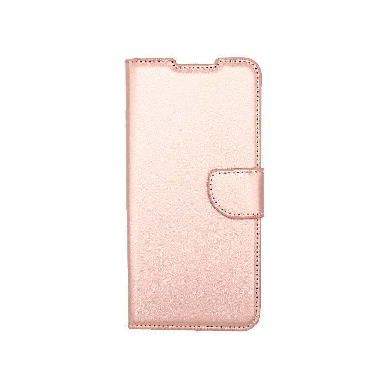 Θήκη Samsung Galaxy A12 Wallet Ροζ Χρυσό-1