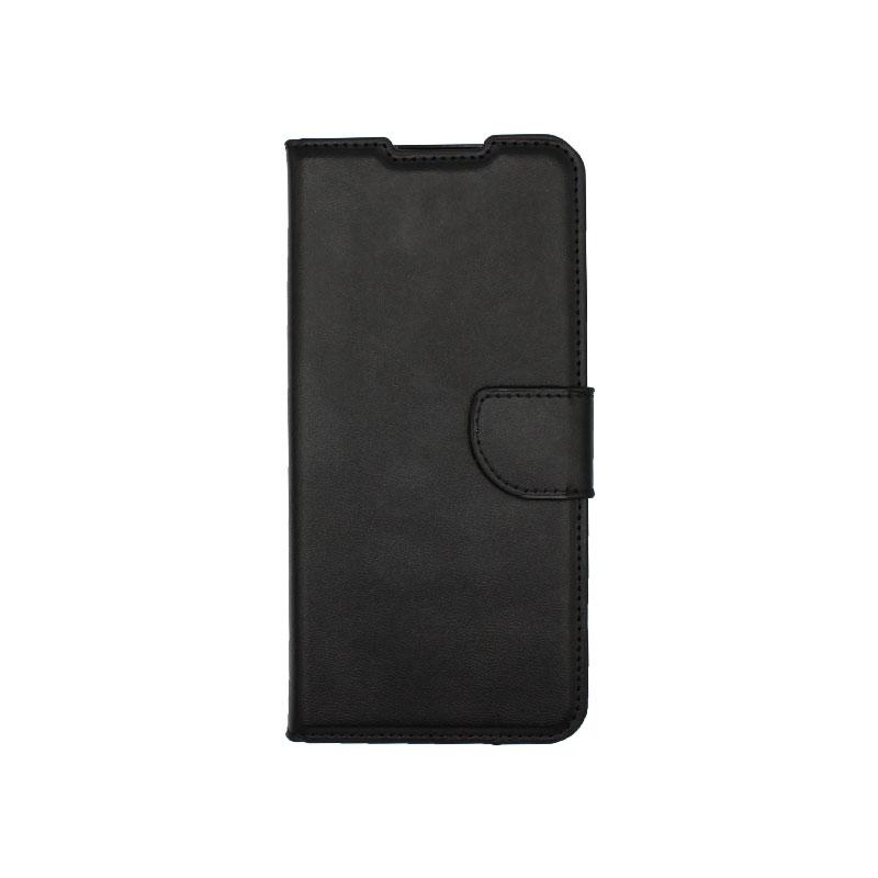 Θήκη Samsung Galaxy A12 Wallet Μαύρο-1
