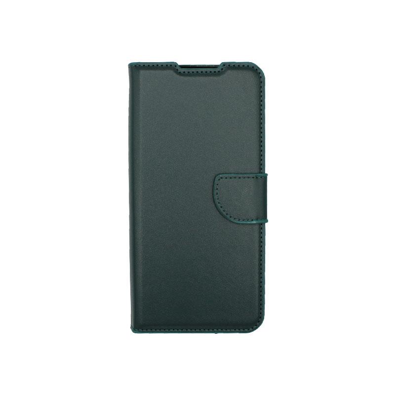 Θήκη Samsung Galaxy A12 Wallet Πράσινο-1