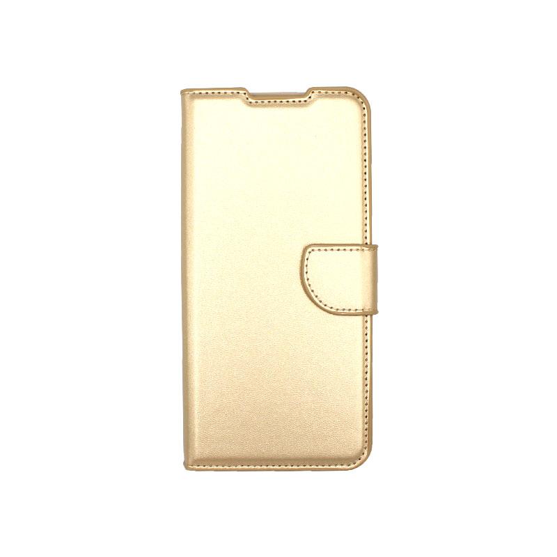Θήκη Samsung Galaxy A12 Wallet Χρυσό-1