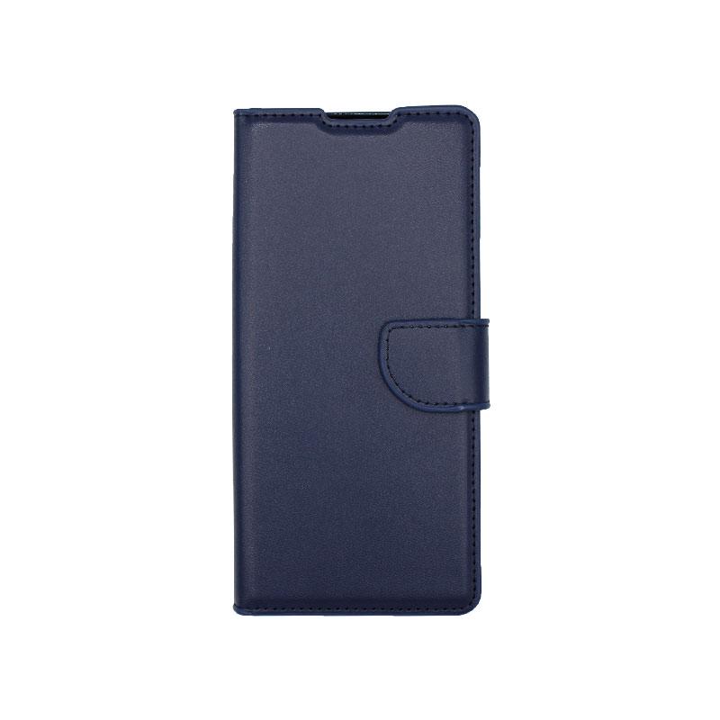 Θήκη Huawei Mate 40 Pro Wallet Σκούρο Μπλε-1