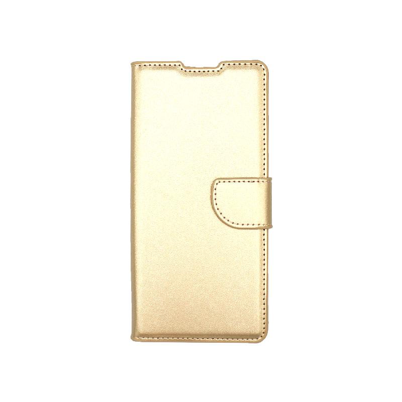 Θήκη Huawei Mate 40 Pro Wallet Χρυσό-1