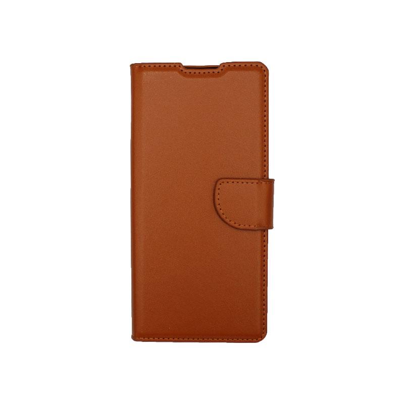 Θήκη Huawei Mate 40 Pro Wallet Καφέ-1
