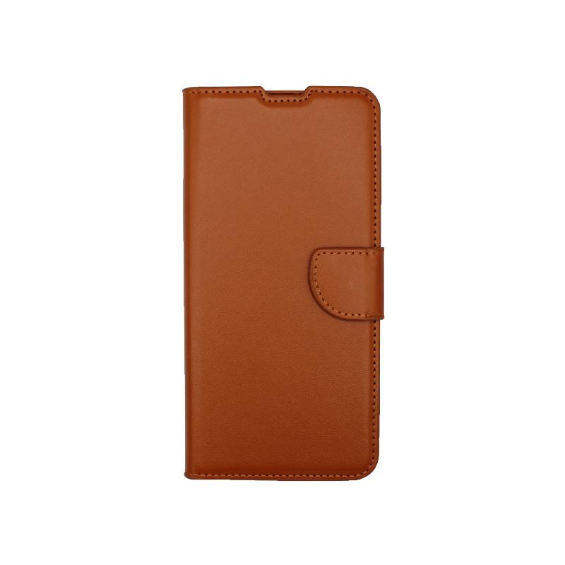 Θήκη Samsung Galaxy A32 5G Wallet Καφέ-1