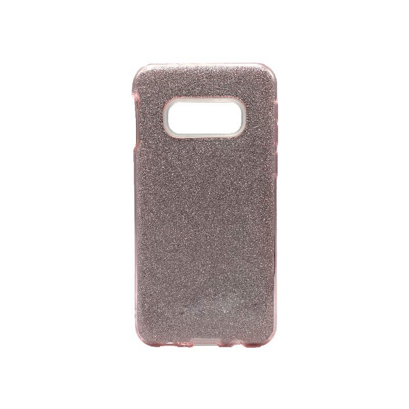 Θήκη Samsung Galaxy S10e Glitter Ροζ Χρυσό