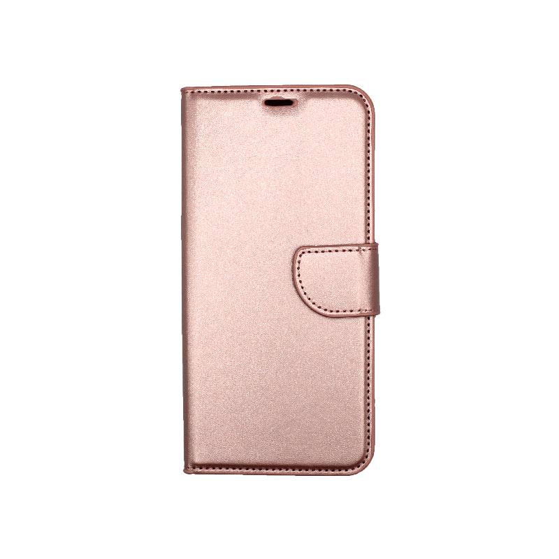 Θήκη Honor 9X Lite Wallet ροζ χρυσό