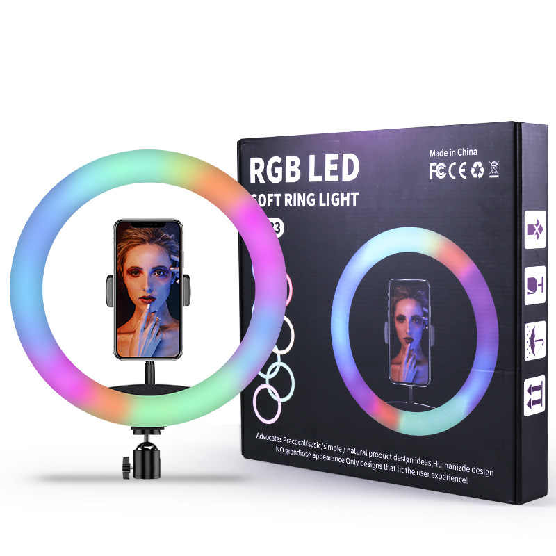 RGB Led Soft Ring Light 30cm με Τρίποδο